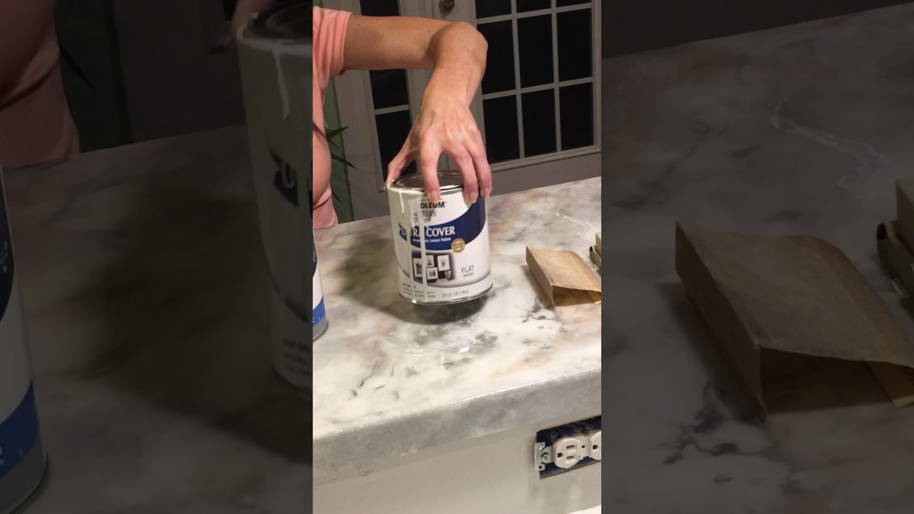 Epoxy Painting How To Paint Laminate Countertops Marble (part 1)