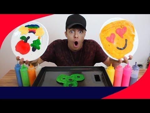 DESAFIO DA ARTE NA PANQUECA!! (Como fazer um emoji)