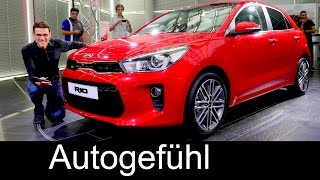 All-new Kia Rio World Premiere Exterior Interior REVIEW neu 2017/2018 - Autogefühl