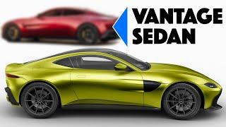 I Redesign the 2019 Aston Martin Vantage Into a Sedan