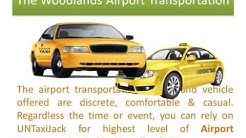 Untaxijack: Airport transportation in greater The Woodlands, @TX