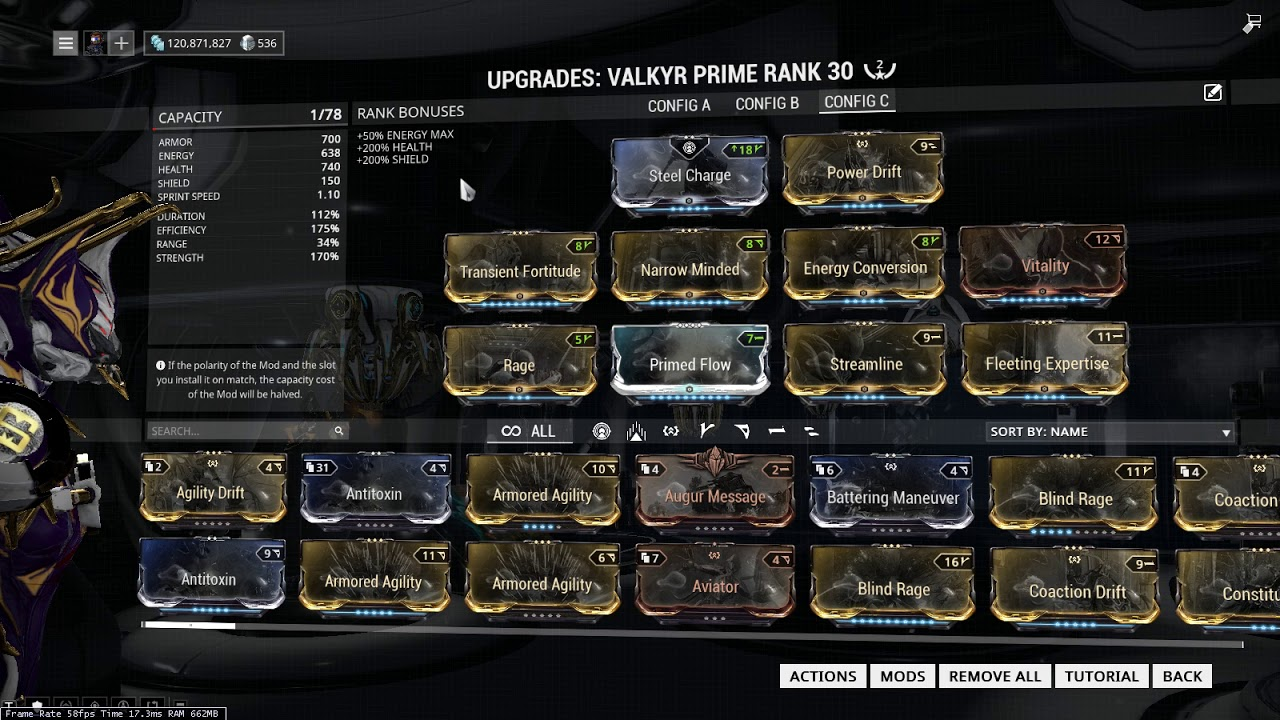 Build Valkyr Warframe