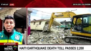 Update on the Haiti earthquake death toll: Qari Ziyaad Patel