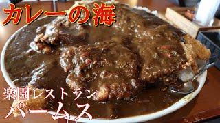 【大食い】皿の上にカレーの海 レストランパームス【デカ盛り】