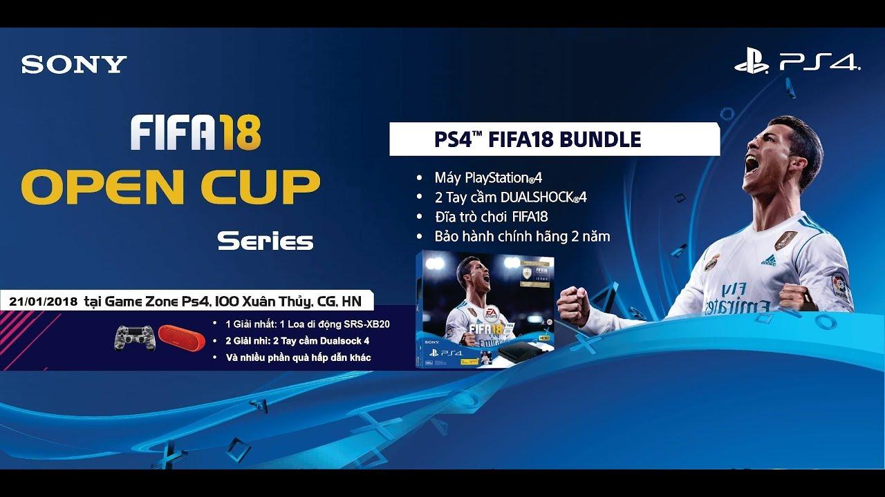 Toàn Cảnh Giải Fifa18 Open Cup Series Tại Gamezone 100 Xuân Thủy,Hà Nội