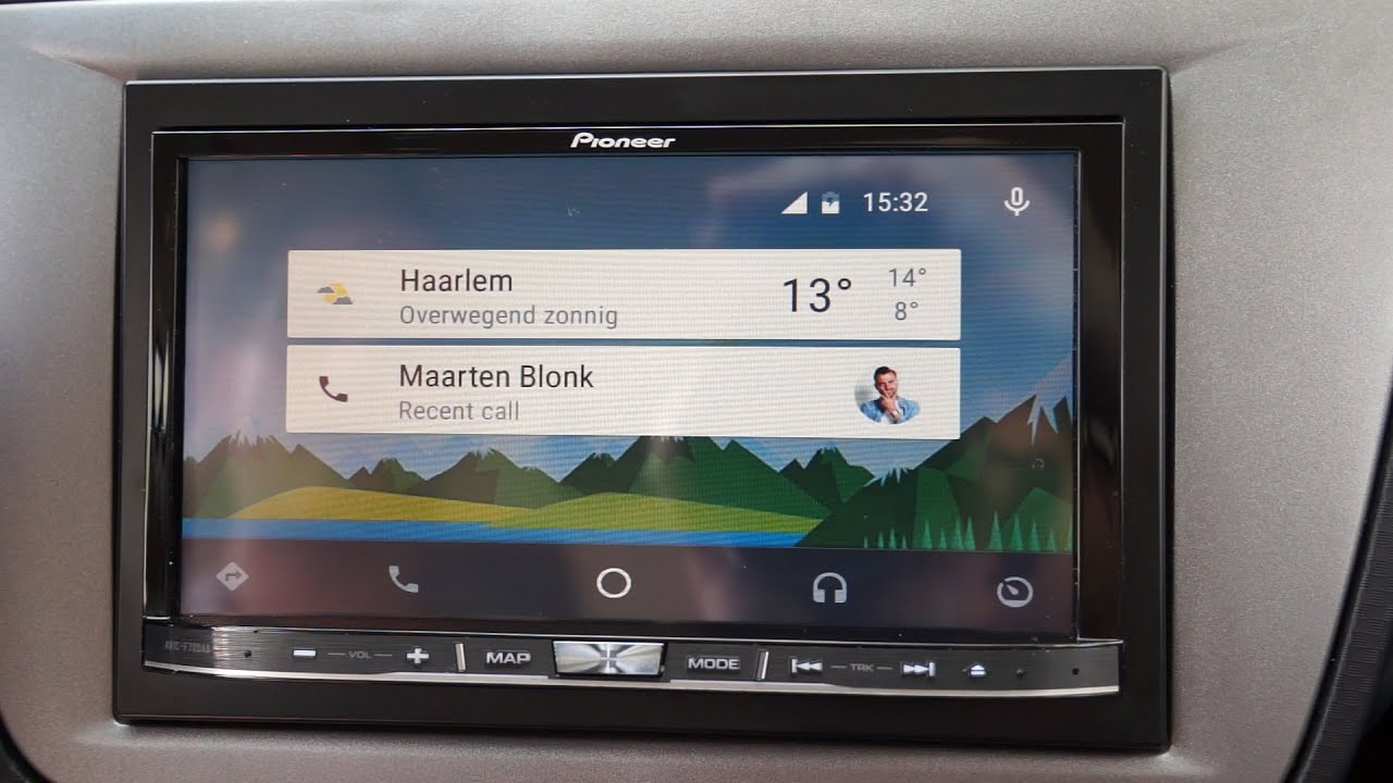 android auto getest eerste ervaringen pioneer avic. Black Bedroom Furniture Sets. Home Design Ideas