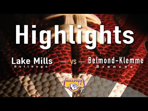 Lake Mills High School Football vs Belmond Klemme Highlights
