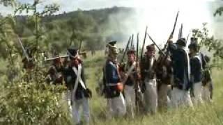 Atak na bagnety polskiej piechoty