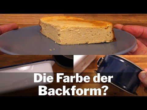 Die Farbe der Backform entscheidet über den Geschmack | Käsekuchen Rezept Fortsetzung