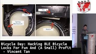 #HITBGSEC 2018 D2: Hacking BLE Bicycle Locks For Fun And (A Small) Profit - Vincent Tan