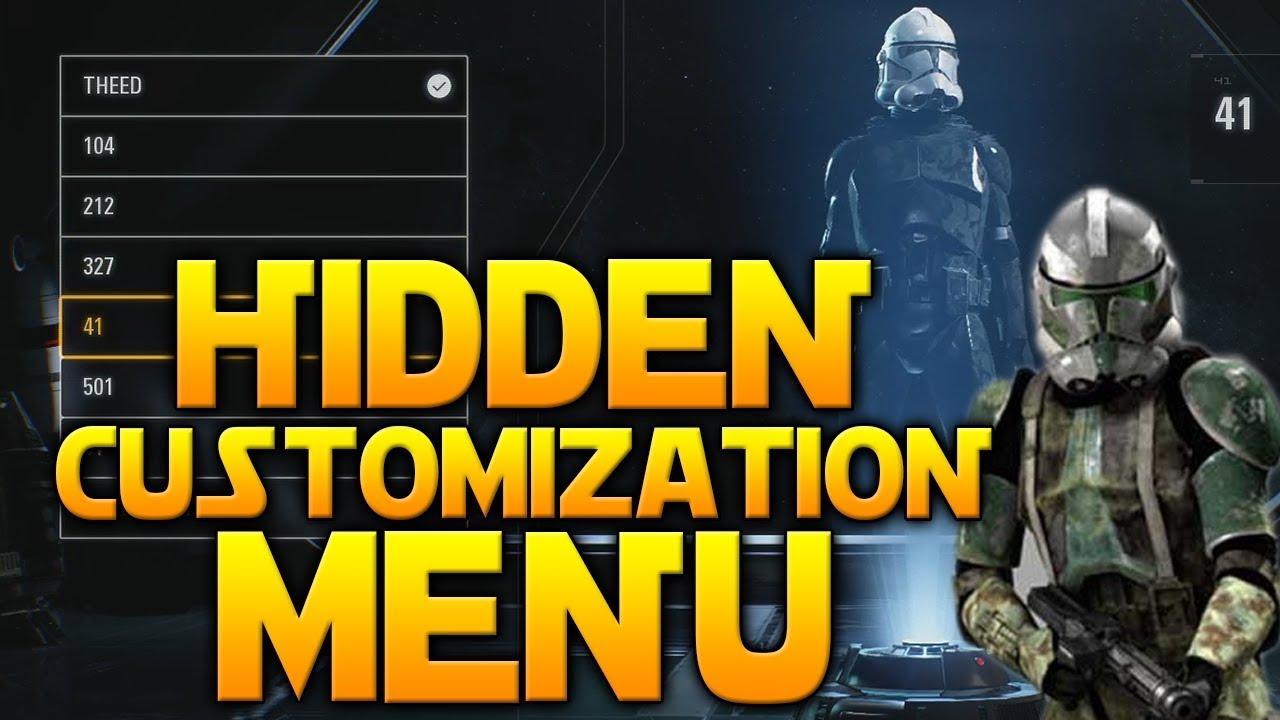 Hidden Customization Menu Found Star Wars Battlefront 2 Clone