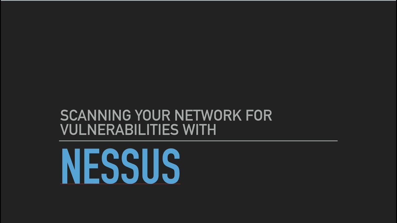 Scanning your home network with nessus