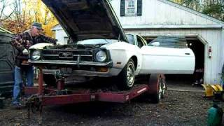1972 mustang old start cold start