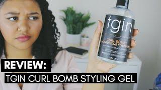 NEW! TGIN Curl Bomb Gel | Review & Demo |Compare to Eco