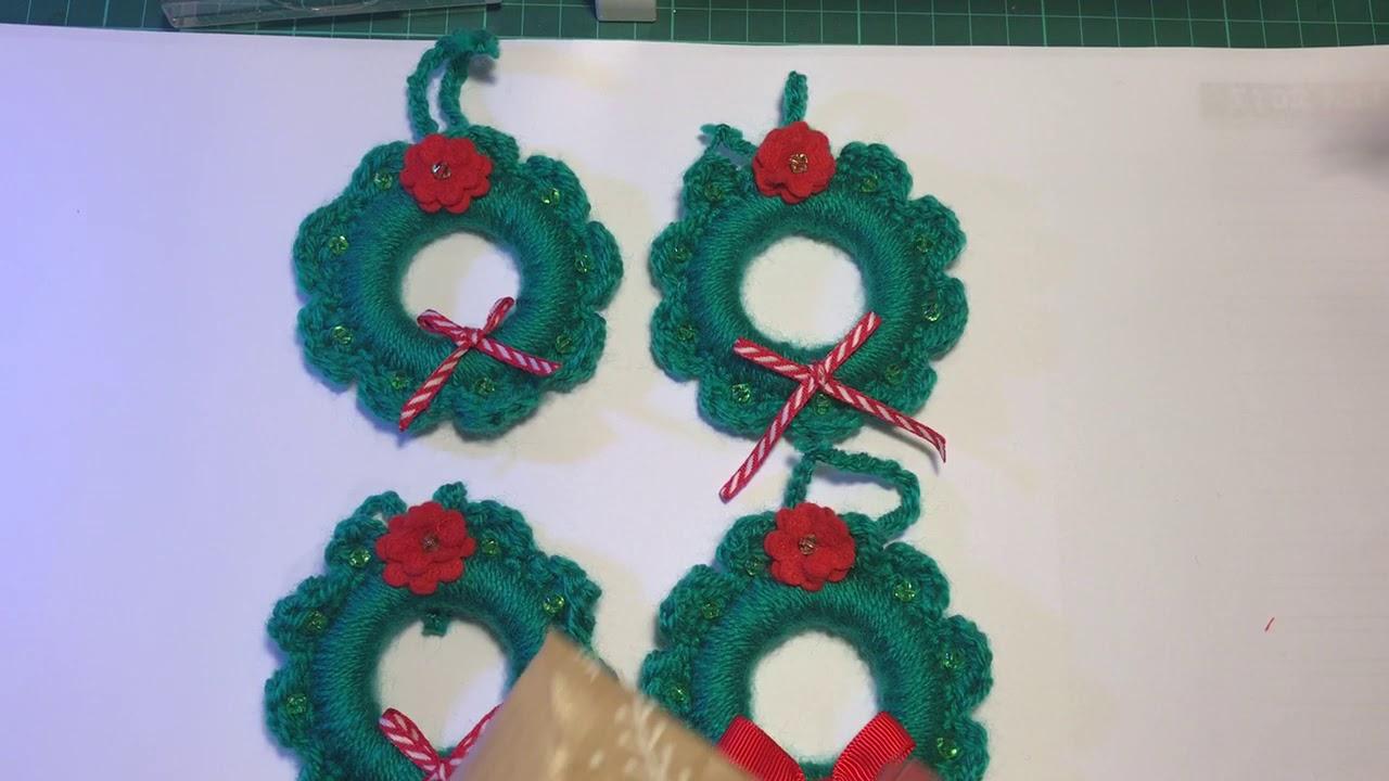 Crochet Wreath Christmas Craft Ideas Youtube