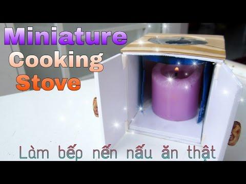 REAL Miniature Cooking Stove / Miniature Kitchen- đồ chơi làm bếp nến nấu ăn thật / Ami DIY