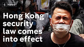 Hundreds arrested in Hong Kong protests as security law comes into effect
