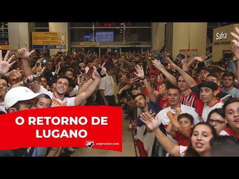 Chegada de Diego Lugano em São Paulo