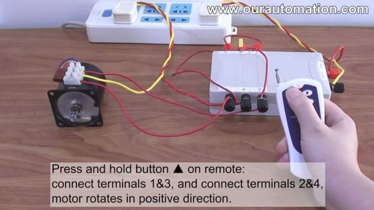 how to replace dpdt switch with remote controller to control ac motor [ 1280 x 720 Pixel ]