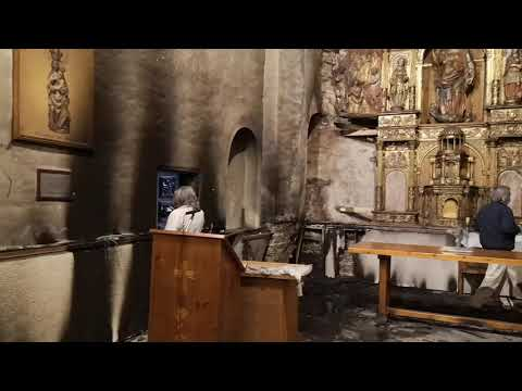 Incendio retablo iglesia Santa Marina de Balboa