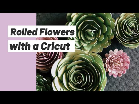 How to Make Paper Flowers with a Cricut // DIY Paper Flowers with Cricut