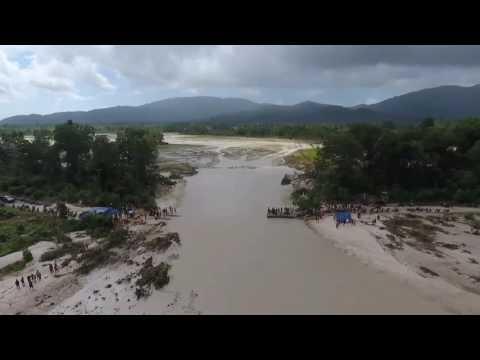 Jalan Terputus Di Kecamatan Damar - Kabupaten Belitung Timur