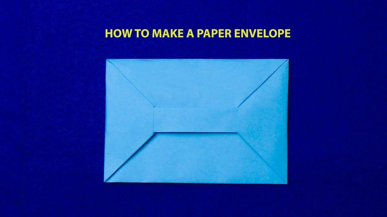 Xếp giấy Origami|Hướng dẫn gấp bao thư bằng giấy A4