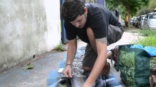 El Arte de la Calle: Stencil con Tanque y Gerdy