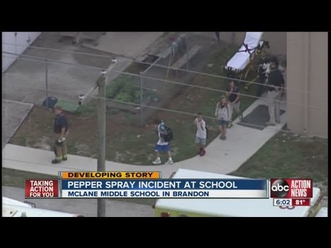 Almost 100 children were exposed to pepper spray at McLane Middle School in Brandon