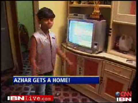 Slumdog child star shows off his new home