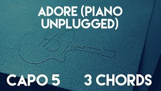 How To Play Adore (Piano Unplugged) by Amy Shark | Capo 5 (3 Chords) Guitar Lesson thumbnail