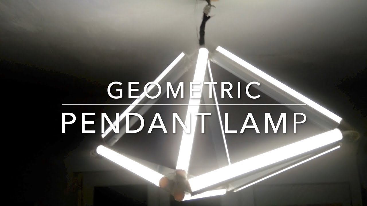 DIY Geometric Pendant Lamp