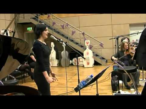 Julie Feeney performs her song 'Impossibly Beautiful' from 'pages' with the RTE Concert Orchestra'
