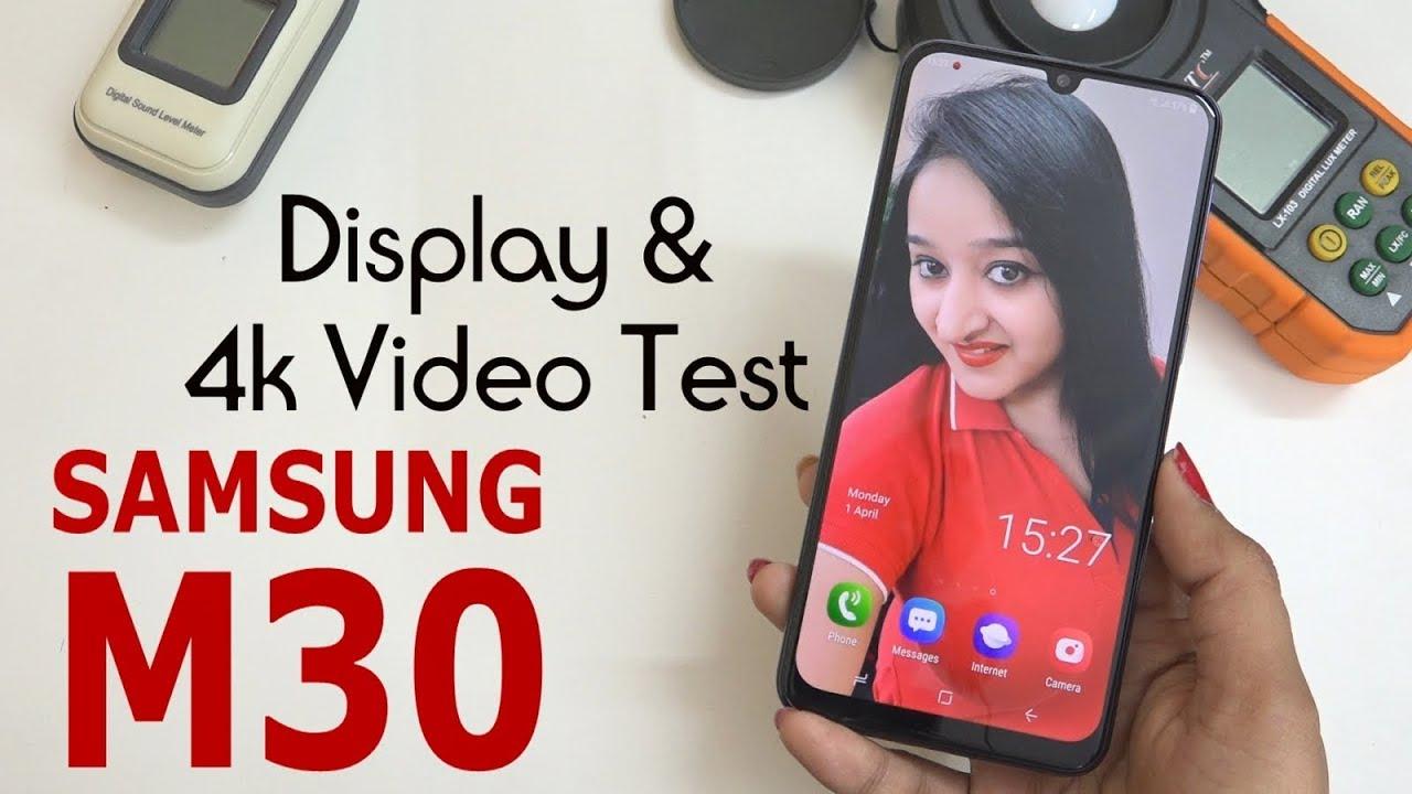 Samsung Galaxy M30 - 4K Video & Display Test