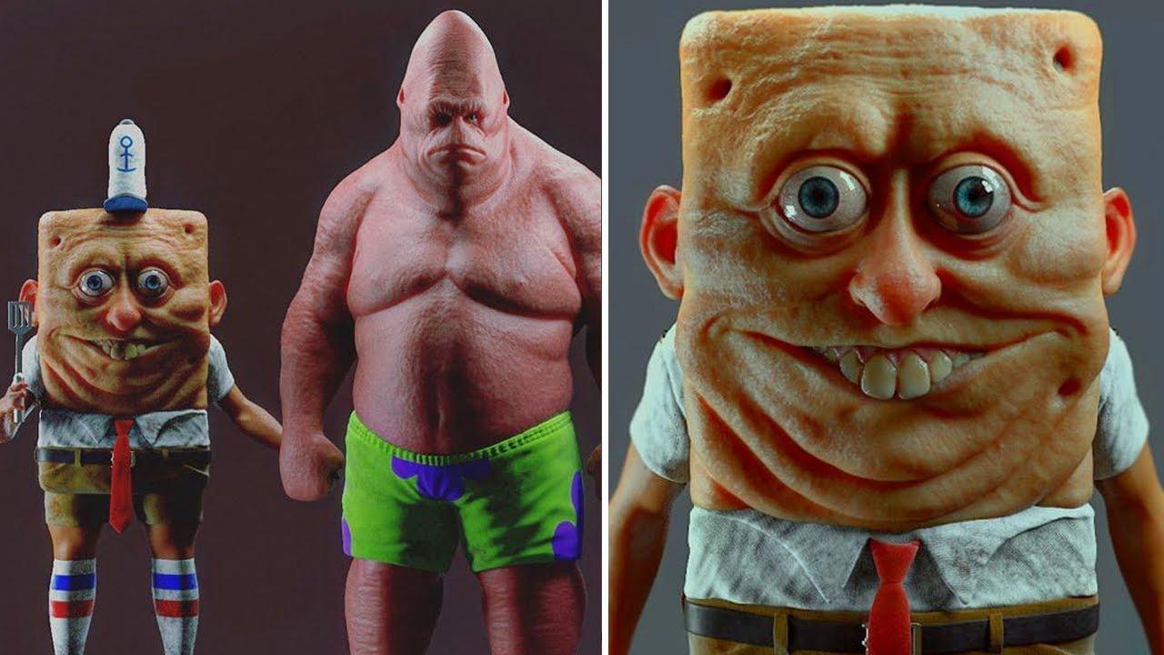 Персонажи губки боба в реальной жизни