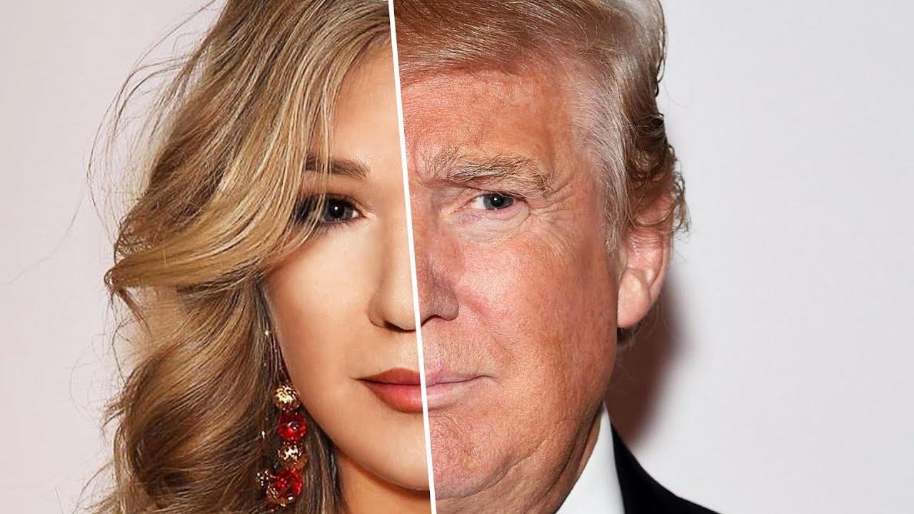 Donald Trump as a woman