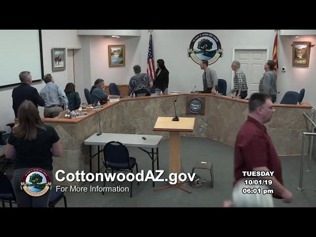 Cottonwood City Council Regular Meeting October 1 2019