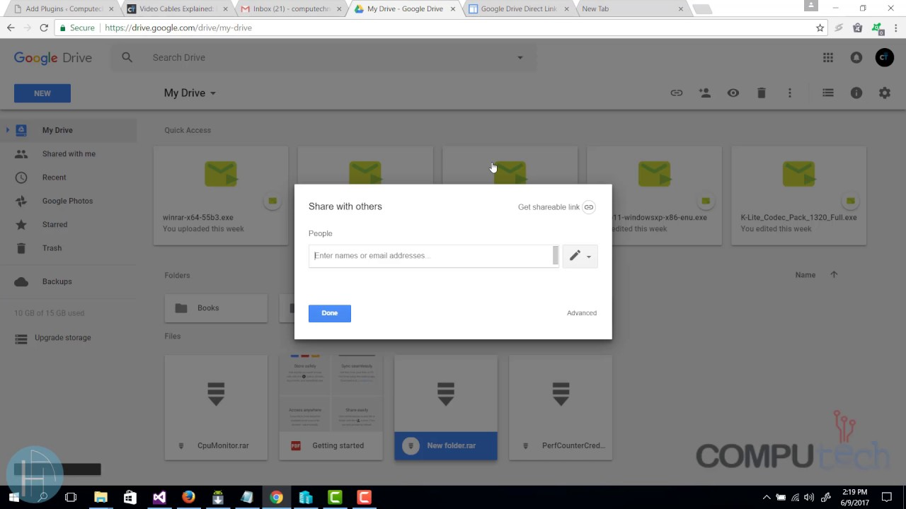 1 minute lecture - Google drive direct link