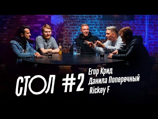 СТОЛ #2: Егор Крид, Данила Поперечный, Rickey F