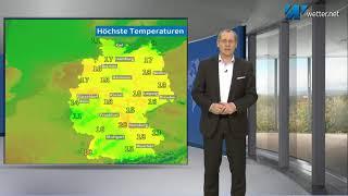 Im Südwesten noch Regen, ab Donnerstag überall wärmer (Mod.: Frank Böttcher)