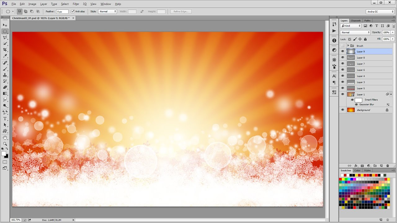 Beautiful Christmas Background Design.How To Design A Beautiful Christmas Background In Photoshop Tutorial