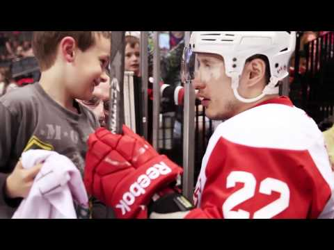 Jordin Tootoo gives away his stick