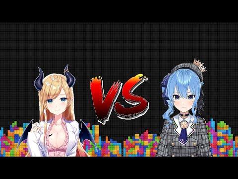 Suisei and Choco Sensei's Tetris Battle【Tetris Online Poland】