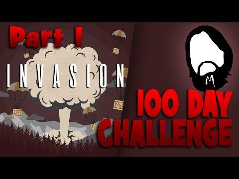 100 дней-челенж! ЧАСТЬ 1 | Mod pack INVASION