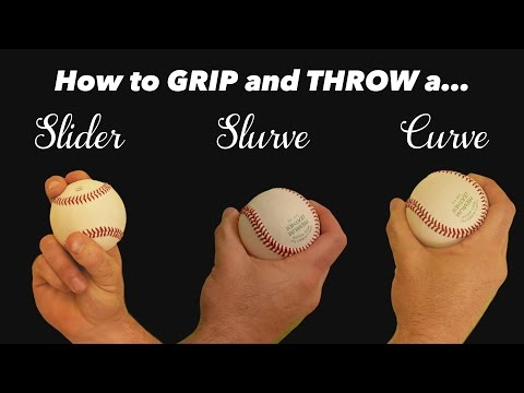 Baseball Pitching Grips - How To Throw A Slider, Slurve, And Curve