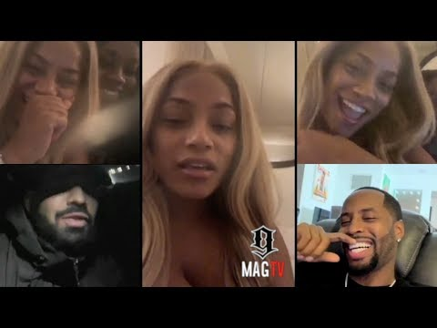 U.K. Rapper Stefflon Don Flirts With Drake & Safaree On IG Live! 😘 Mp3