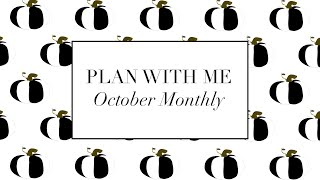 PLAN WITH ME Class October | How To Plan Your Month