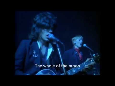 The Waterboys - The Whole of the Moon with lyrics on screen