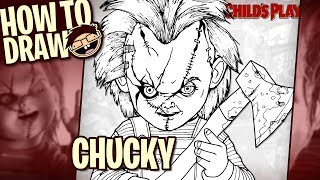 chucky easy drawing lesson