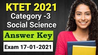 KTET Category-3 Social Science Answer Key Exam 17-01-2021